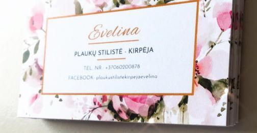 Sumaketuotos ir atspausdintos vizitinės kortelės